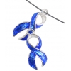 Pendant-cancer Curved Ribbon 23mm Transparent Royal(colon)